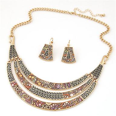 Damen Schmuckset Halskette / Ohrringe Retro Party Freizeit Modisch Europäisch Party Alltag Normal Aleación Halskette Ohrringe Halsketten