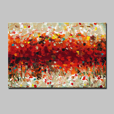 Hang-Painted Oliemaleri Hånd malede - Abstrakt Moderne Med Ramme / Stretched Canvas