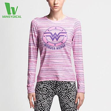Mulheres Corrida Camiseta Blusas Secagem Rápida Compressão Materiais Leves Redutor de Suor Primavera Verão Moda Esportiva Corrida