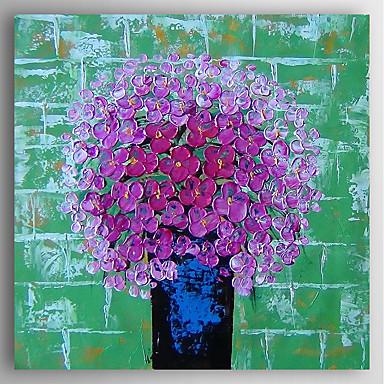 Håndmalte Blomstret/Botanisk Moderne,Et Panel Hang malte oljemaleri