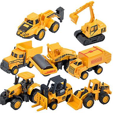 carro de brinquedo caminhão de 1:48 volta de escavadeiras de brinquedo modelo de carro liga de 01:55 despejo caminhão infantil (9pcs)