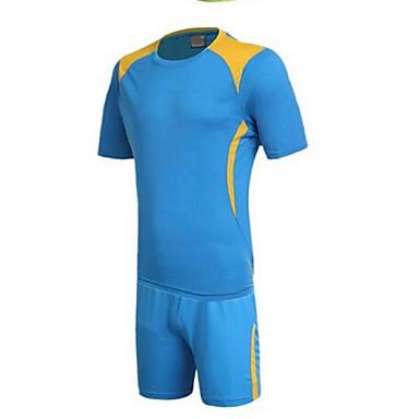 Homens Futebol Shorts shirt + Conjuntos de Roupas Secagem Rápida Respirável Primavera Verão Inverno Outono Clássico TeryleneExercício e