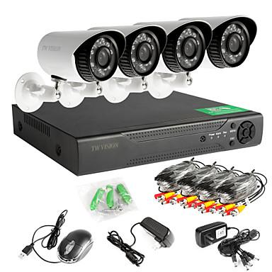 8-Kanal-960H-Netzwerk-DVR 4pcs ahd im Freien CCTV-Kameras System