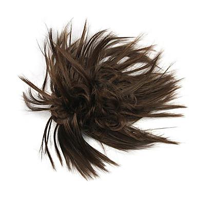 parykk brun 10cm høy temperatur tråd blomst knopp farge 2/30