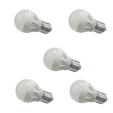 3W 300-350 lm E26/E27 LED 글로브 전구 G45 6 LED가 SMD 5630 따뜻한 화이트 차가운 화이트 AC 110-130V AC 220-240V