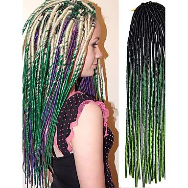 20 אינץ 'סרוגה רכה dreadlock havana mambo טוויסט braide שיער בצבע שחור או שחור