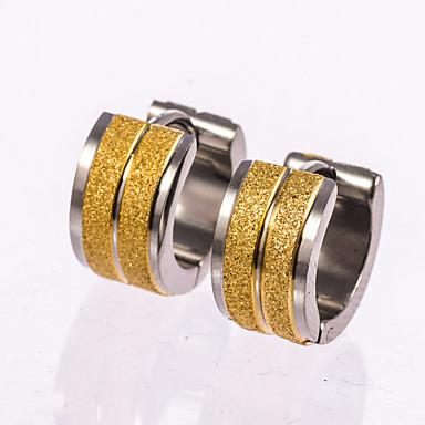 עגילים צמודים טבעות חישוקים מוזהב תכשיטים ל חתונה Party יומי קזו'אל 1 זוג