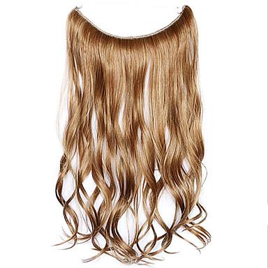 peruca marrom 45 centímetros sintética fio de alta temperatura de cor pedaço de cabelo encaracolado 12/613