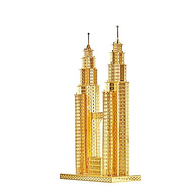 פאזלים3D פאזל פאזלים מתכתיים צעצועים בניין מפורסם 3D עשה זאת בעצמך מאמרים ריהוט מתכת ילדים חתיכות
