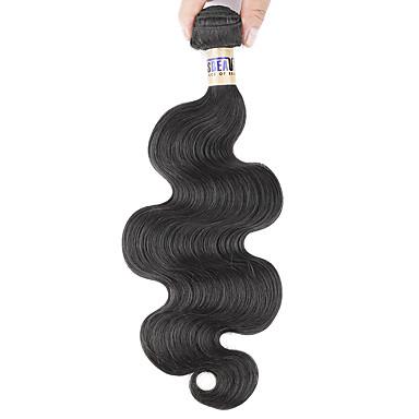 Orta Dalgalı Malezya Saçı Vücut Dalgası İnsan saç örgüleri 1 Parça 0.1