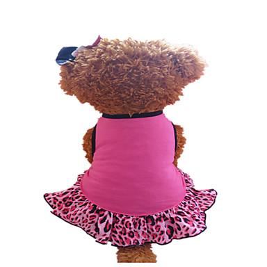Koira Hameet Koiran vaatteet Ruusu Fuksia/musta Asu Lemmikit