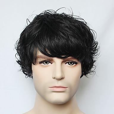 Perruques capless à cheveux humains Cheveux humains Ondulé Sans bonnet Perruque