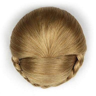 verworrene lockige Gold Europa Braut Chignons menschliches Haar capless Perücken dh103 1011