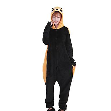 Raton / Urs Pijama Întreagă Costume Coral Fleece Maro Cosplay Pentru Adulți Sleepwear Pentru Animale Desen animat Halloween Festival /