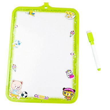 Kinderschreibtafel unterrichtet, die weiße Tafel Stift geben