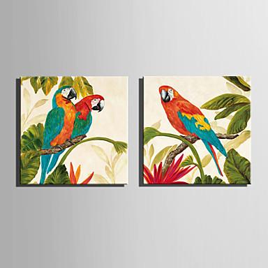 Handgemalte Tiere Quadratisch, Europäischer Stil Modern Segeltuch Hang-Ölgemälde Haus Dekoration Ein Panel