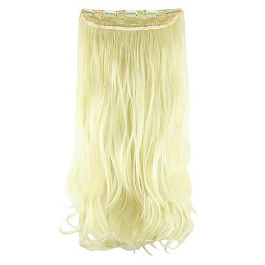 Länge Weißgold 60 cm hoch Hemperature Draht Perücke Haarverlängerung synthetisches Haar