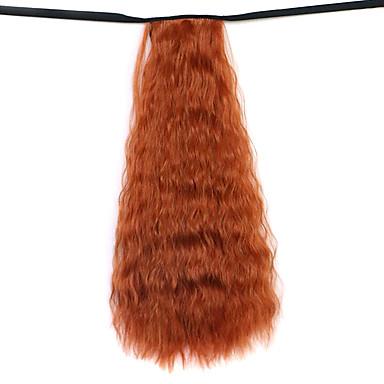 Klassisch Pferdeschwanz Gute Qualität Haarstück Haar-Verlängerung Rot orange Alltag