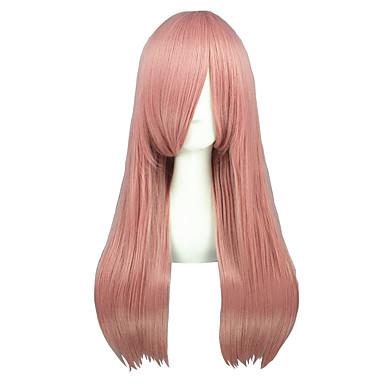 Cosplay Perücken Reborn! Bisuke Rosa Medium Anime Cosplay Perücken 60 CM Hitzebeständige Faser Mann / Frau
