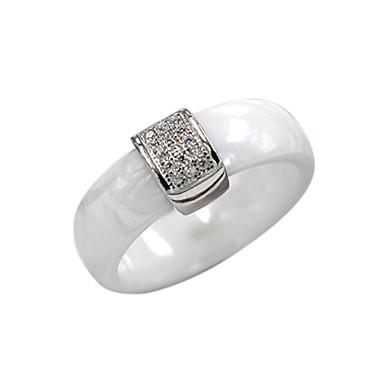 Ringer,Sølv Mote Bryllup Fest Daglig Avslappet Smykker Sølv Parringer Ring 1 stk,6 7 8 Svart Hvit