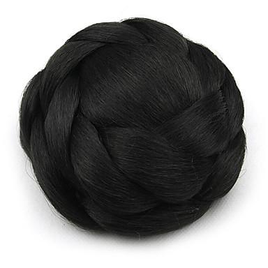verworrene lockige schwarze europa Braut Perücken menschliches Haar capless Chignons sp-161 2