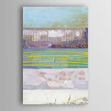 Kézzel festett Absztrakt Függőleges, Modern Vászon Hang festett olajfestmény lakberendezési Egy elem