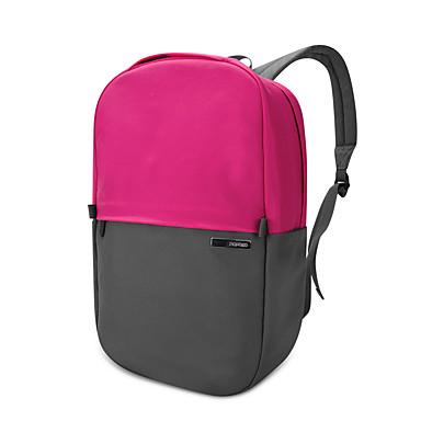 pofoko® 13,3 pouces tissu imperméable oxford ordinateur portable sac à dos rose / jaune