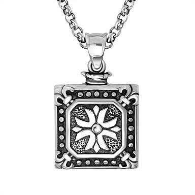 Herre Dame Anheng Halskjede Anheng Titanium Stål Mote Enkel Stil Sølv Smykker Daglig 1 stk
