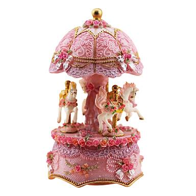 Keramik rosa kreative romantische Musik-Box für Geschenk