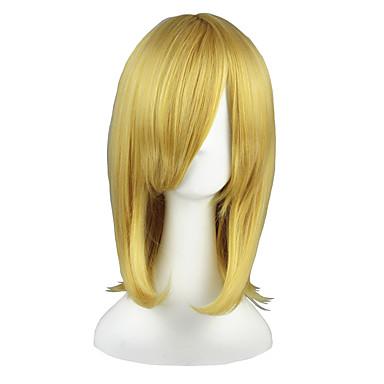 Pelucas de Cosplay Neon Genesis Evangelion Altair Animé Pelucas de Cosplay 45cm CM Fibra resistente al calor Hombre Mujer