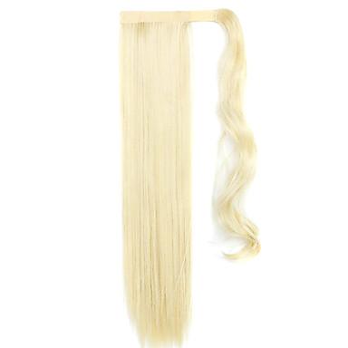 golden 60cm syntetisk høy temperatur wire parykk rett hår hestehale farge 60/86