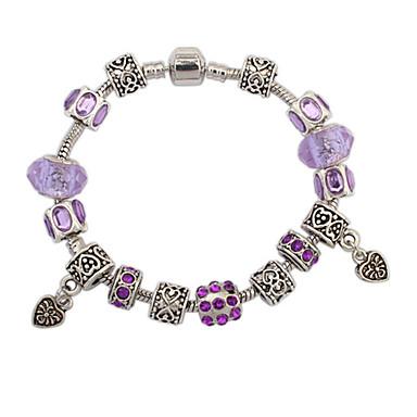 Damen Strass Herz Ketten- & Glieder-Armbänder Bettelarmbänder - Liebe Modisch Europäisch Purpur Blau Rosa Armbänder Für Hochzeit Party