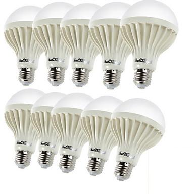YouOKLight 10pcs 3W 150-200lm E26 / E27 LED Küre Ampuller C35 12 LED Boncuklar SMD 5630 Dekorotif Sıcak Beyaz 220-240V