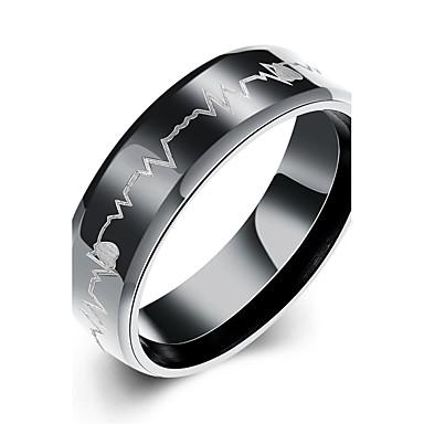Herrn Bandring Statement-Ring Ring - versilbert Herz, Liebe Quaste, Böhmische, Punk 7 / 8 / 9 / 10 Weiß / Schwarz Für Hochzeit Party Alltag