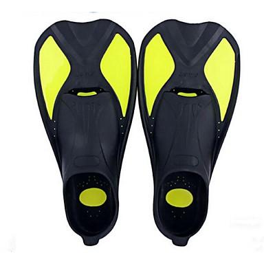 Aletas de buceo Flexible, Hoja corta, Duradero Natación, Buceo, Submarinismo Silicona - para Adultos Amarillo / Azul / Rosa