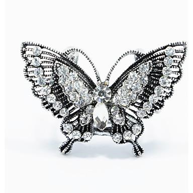 Feminino Broches Moda bijuterias Liga Formato Animal Borboleta Jóias Para Casamento Festa Ocasião Especial Aniversário Diário
