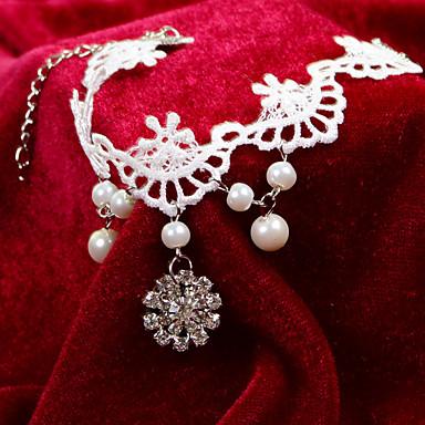Femme Bracelet de cheville/Bracelet Dentelle Original Sexy Mode Bijoux Aux femmes Bijoux Pour Mariage Quotidien Décontracté Blanc 1pc