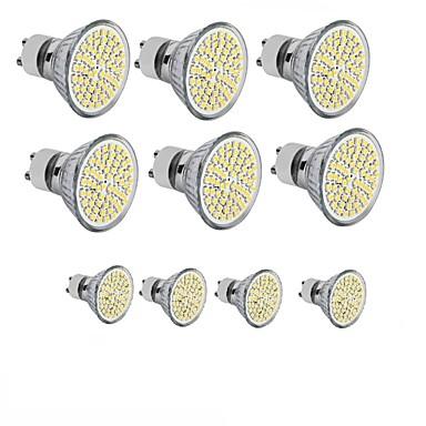 billige Elpærer-10pcs 3.5 W LED-spotpærer 300-350 lm GU10 GU5.3(MR16) E26 / E27 MR16 60SMD LED perler SMD 2835 Dekorativ Varm hvit Kjølig hvit 220-240 V 12 V 110-130 V / 10 stk. / RoHs