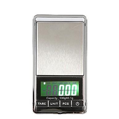 500g / 0.1g hordozható mini digitális lcd elektronikus ékszerek zseb gramm súlyú skála