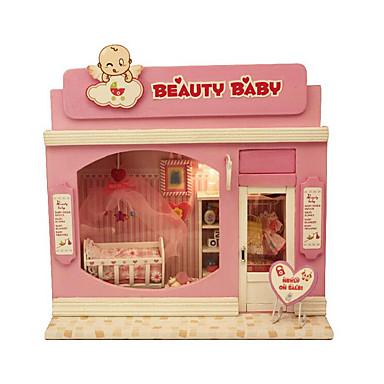 divertido iluminado montado à mão modelo chi pretty baby diy cabine casa europa série loja