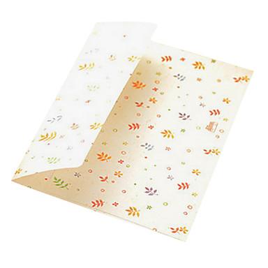 3 Karikatur Farbe Umschlag-Karten-Speicherbeutel (Muster gelegentlich)