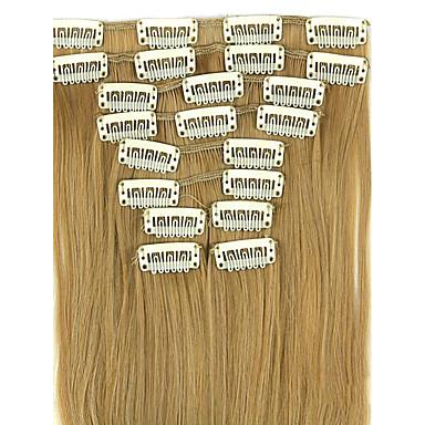 cabelos lisos extensão de cabelo sintético de linho peruca marrom 62 centímetros de comprimento fio de alta temperatura