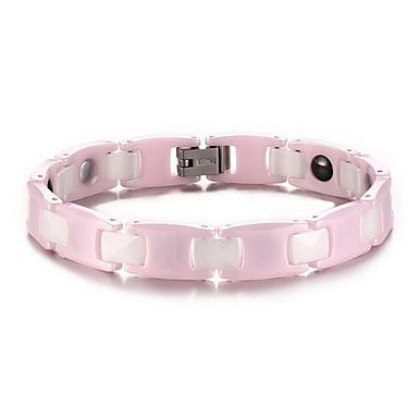 Armbänder Ketten- & Glieder-Armbänder Keramik Magnettherapie Alltag / Normal Schmuck Geschenk Rosa,1 Stück