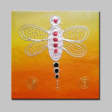 große Ölgemälde moderne abstrakte Tier Libelle Bild Hand bemalte Leinwand Wandkunst Hauptdekor mit Rahmen