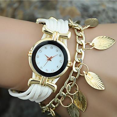 בגדי ריקוד נשים קווארץ שעון צמיד מכירה חמה בד להקה קסם אופנתי שחור לבן כחול אדום זהב ורד