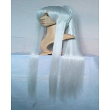 povoljno Perike i ekstenzije-Sintetičke perike Perike za maškare Ravan kroj Stil S konjskim repom Perika Crn Srebro Crvena Sintentička kosa Žene Perika hairjoy