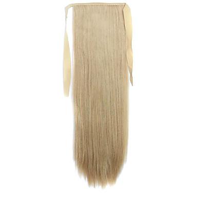 De alta temperatura peruca ciano entupido 60 centímetros de arame estilo cinta rabo de cavalo cabelos lisos da cor peruca 25