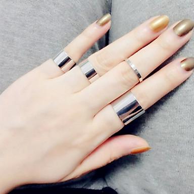 בגדי ריקוד נשים כסוף טבעת הטבעת - וינטאג' מסיבה אהבה אופנתי מתכווננת כסף מוזהב טַבַּעַת עבור חתונה Party מתנה יומי קזו'אל אָהוּב