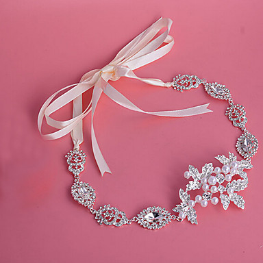 serre-tête en alliage strass perle bandeau classique style féminin