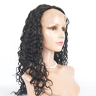 여성 인조 합성 가발 전면 레이스 Kinky Curly 미듐 브라운 블랙 딸기 금발 내츄럴 가발 의상 가발